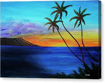 Diamond Head Sunrise #327 Canvas Print by Donald k Hall