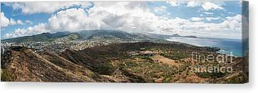 Diamond Head View Panoramic Canvas Print
