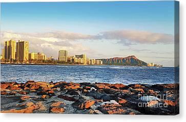 Canvas Print - Diamond Head, Waikiki by Kristine Merc