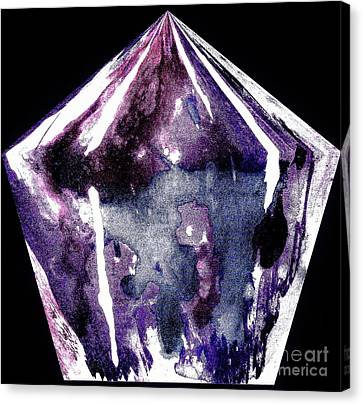 Diamond In The Rough Canvas Print by Marsha Heiken