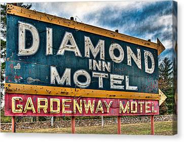 Diamond Inn Motel Sign Canvas Print