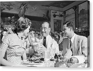 Diamond Jim Moran, Entertaining Guests At His Restaurant In New  Canvas Print