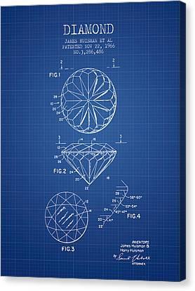 Diamond Patent From 1966- Blueprint Canvas Print