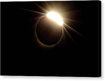 Diamond Ring 1-solar Eclipse 4 Canvas Print