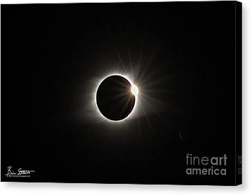 Totality Canvas Print - Diamond Ring by Brian Stamm