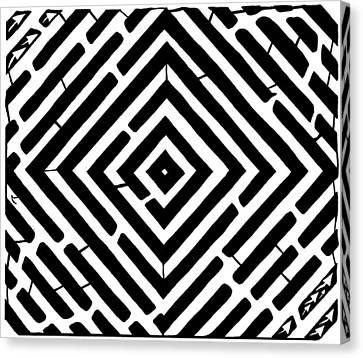 Diamond Shaped Optical Illusion Maze Canvas Print by Yonatan Frimer Maze Artist