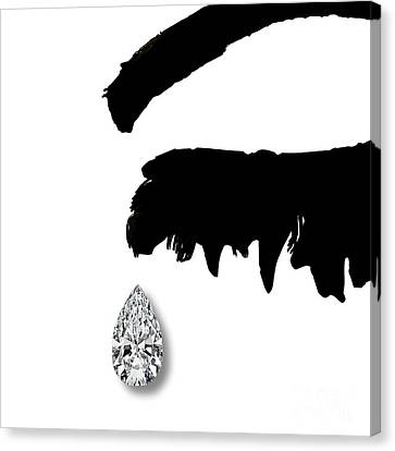 Diamond Teardrop Canvas Print