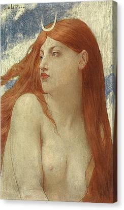 Diana, 1902 Canvas Print by Jules Joseph Lefebvre