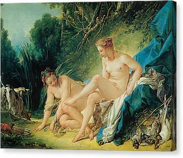 Diana Bathing Canvas Print by Francois Boucher