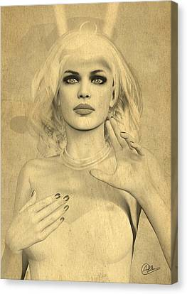 Diana Huntress Old Sepia Canvas Print