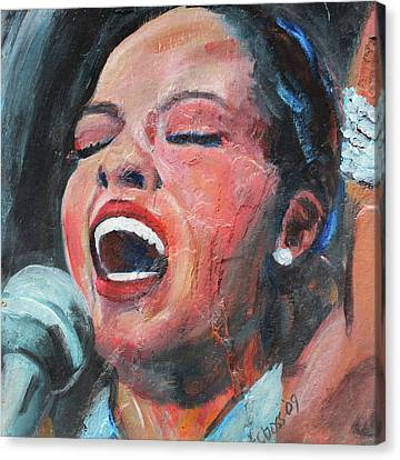 Diana Ross Canvas Print - Diana Ross by Carol Boss