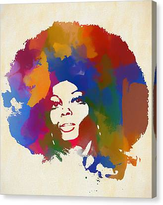 Diana Ross Canvas Print - Diana Ross by Dan Sproul