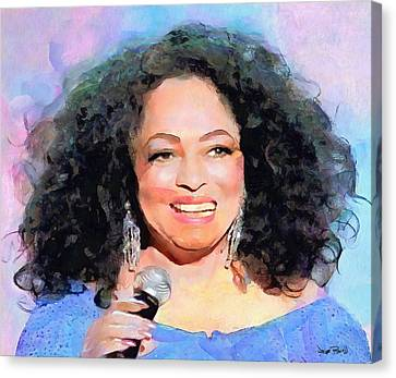 Diana Ross Canvas Print - Diana Ross by Wayne Pascall