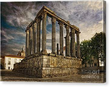 Diana Temple Sepia Canvas Print by Mikehoward Photography