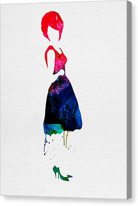Diana Watercolor Canvas Print by Naxart Studio