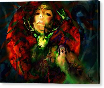 Dianas Blood Moon Canvas Print by Stephen Lucas
