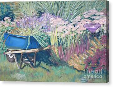 Canvas Print featuring the pastel Diana's Garden by Terri Thompson