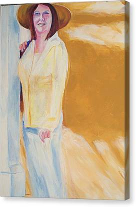 Canvas Print featuring the painting Diane by Eric  Schiabor