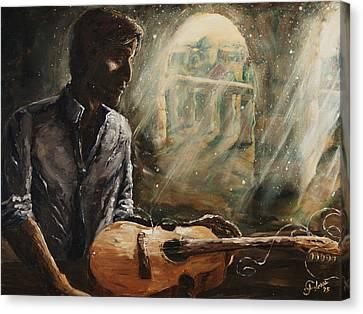 Oil On Canvas Print - Diaspora by Carlos Flores