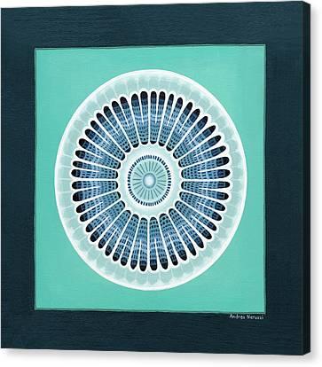 Diatom Mandala, Arachnoidiscus Canvas Print