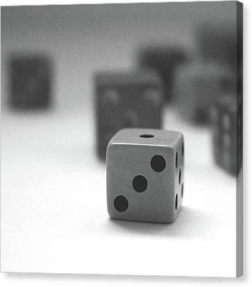 Dice 2- By Linda Woods Canvas Print
