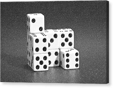Dice Cubes I Canvas Print by Tom Mc Nemar