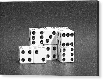 Bet Canvas Print - Dice Cubes II by Tom Mc Nemar