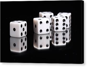 Dice II Canvas Print by Tom Mc Nemar