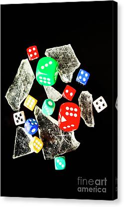 Dicing With Chance Canvas Print by Jorgo Photography - Wall Art Gallery