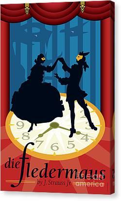 Opera Canvas Print - Die Fledermaus by Joe Barsin