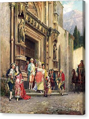 Cesare Canvas Print - Die Taufe by Celestial Images