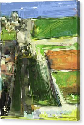 Farm Fields Canvas Print - Diebenkorn Homage by Russell Pierce