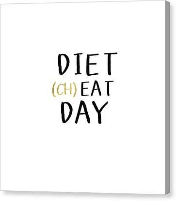 Diet Cheat Day- Art By Linda Woods Canvas Print by Linda Woods