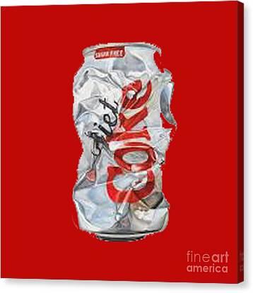 Diet Coke T-shirt Canvas Print