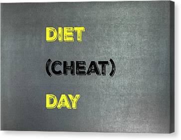 Diet Day? #1 Canvas Print