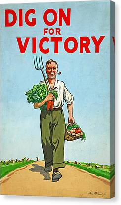 Dig On For Victory Canvas Print by English School