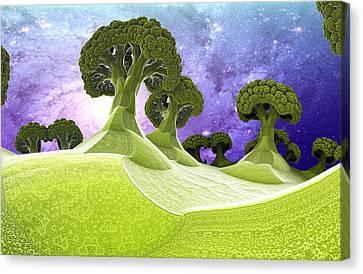 Broccoli Planet Canvas Print