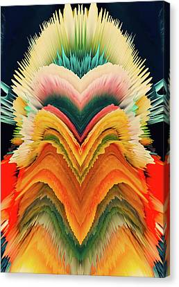 Canvas Print featuring the photograph Vivid Eruption by Colleen Taylor