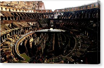 Digital Antiquarian Coliseum In Rome Canvas Print by VRL Art