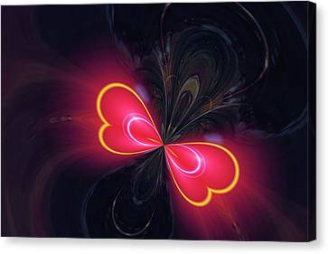 Digital Butterfly Canvas Print