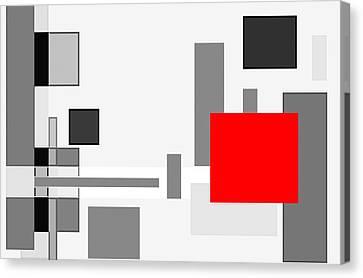 Digital Cubism Canvas Print