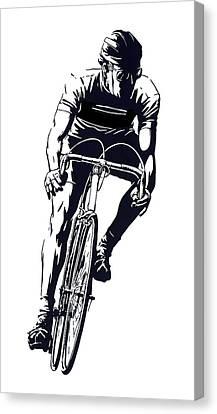 Digital Cyclist Canvas Print
