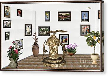 Bas Relief Canvas Print - digital exhibitartion _Statue the pilot by Pemaro