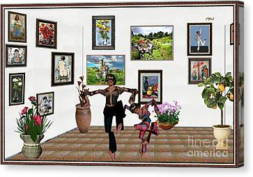 digital exhibition _ Mother and child zombies Canvas Print