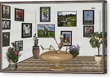 Digital Exhibition _ Relaxation In The Afterlife Canvas Print
