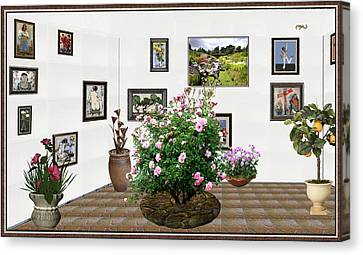 Digital Exhibition _ Roses Blossom 22 Canvas Print by Pemaro