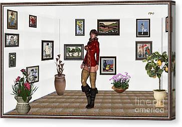 digital exhibition 32  posing  Girl 31  Canvas Print