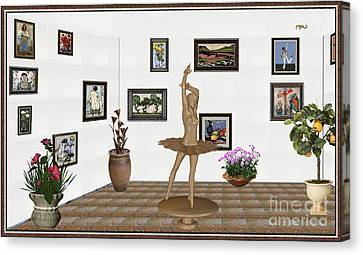Digital Exhibition_statue Of My Dancing Girl Canvas Print