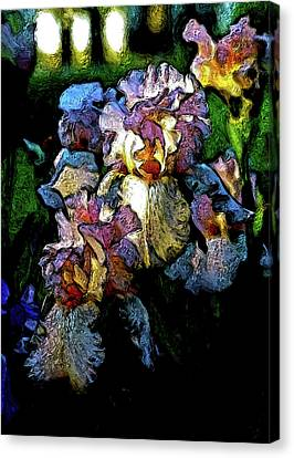 Digital Expressionist Painting Pale Pink Irises 6702 W_4 Canvas Print