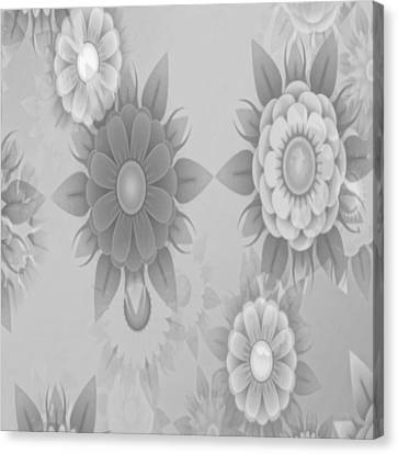 Digital Flowers Canvas Print by Gina Lee Manley